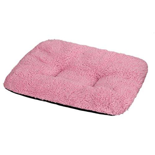 Wensltd 31*37cm Dog Blanket Pet Cushion Cat Bed Soft Warm Sleep Mat (Pink)