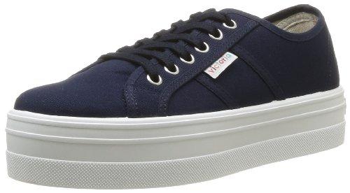Victoria Blucher Lona - Botas para mujer, Azul (marino), 38 EU