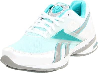 Reebok Women's Easytone Reeinspire II Walking Shoe,White/Glacier Blue/Aqua Fantasy/Silver,6 M US