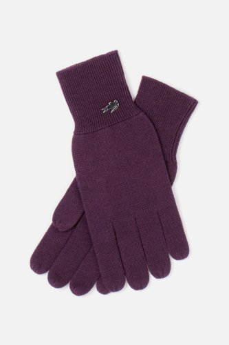 Women's Metal Croc Cotton Cashmere Knit Gloves