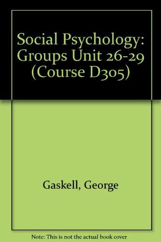Social Psychology: Groups Unit 26-29 (Course D305)