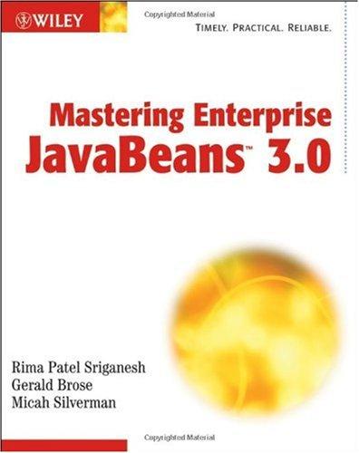 Mastering Enterprise JavaBeans 3.0