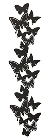 Black Metal Butterfly Wall Hanger for Photos and Accessories, Modern Home Decor