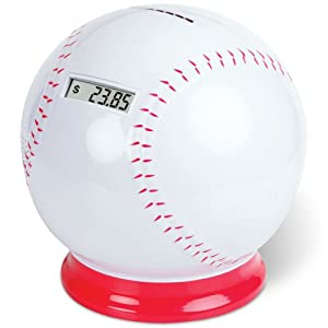 Timothy baseball coin counting piggy bank count coins and save money toys - Counting piggy bank ...