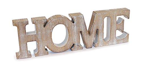 deko holzaufsteller schriftzug home englisch 21 x 6 5 cm aus holz landhausstil vintage look. Black Bedroom Furniture Sets. Home Design Ideas