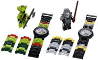 "LEGO Kids' 9009891 ""Ninjago Kendo Cole and Lasha"" 2-Pack Watch Set from LEGO"