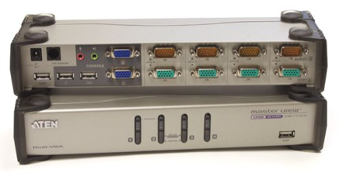 Aten 4 Port USB Dual View KVMP Switch and Audio 8xcables Included