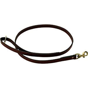 Mendota Products Leather Dog Snap Leash, Chestnut, 3 4-Inch x 6-Feet by Mendota Products