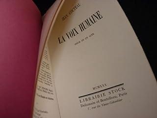 La voix humaine : pièce en un acte, Cocteau, Jean