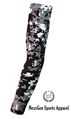 Nexxgen Sports Apparel Compression Arm Sleeve (Single)- 40 Styles and Colors- Men, Women, Youth - Basketball Shooter, Football, Baseball, Cycling, Volleyball, Lymphedema, Tattoo