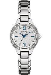 Bulova 96R208 Women's 26 Diamonds Stainless Steel Bracelet Watch