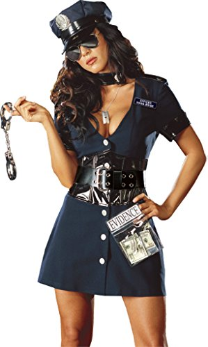 Dreamgirl Womens Corrupt Cop Detective Carnaval Outfit Fancy Dress Sexy Costume