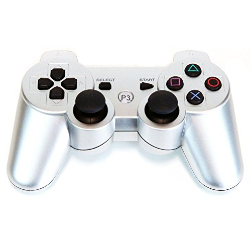 Bowink Wireless Bluetooth Controller For PS3 Double Shock (Silver) (Zelda For Wi compare prices)