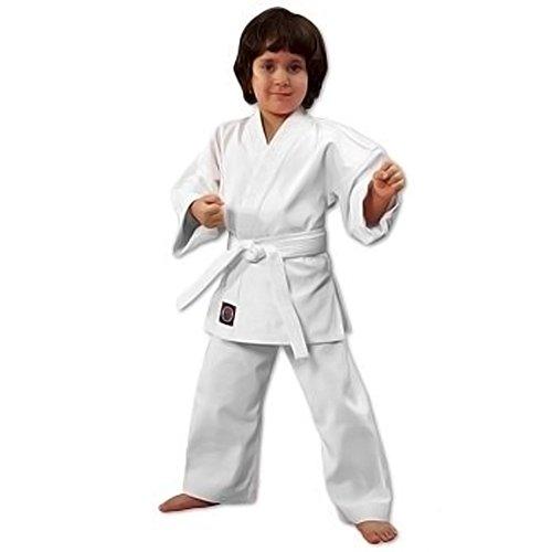 ProForce 6oz Student Karate Gi / Uniform - White - Size 000 (Kids Karate Uniform compare prices)