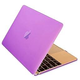 Macbook 12 Retina Case,ACCUCASE(TM) 12-inch Macbook Retina case,Ultra Slim Rubberized Hard Case Light Weight Matte Cover for MacBook 12-inch (2015) Purple