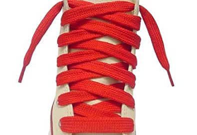 Flat Shoe Laces (36 Inch, Red)