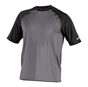 Rawlings Men's Performance Shirt (Black, Small)