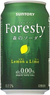 サントリースピリッツ テイストソーダー フォレスティ 森のソーダー〈レモン&ライム〉350mlx1ケース(24本)
