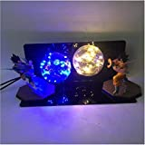Dragon Ball Z Son Goku Vegeta Table Lamp Double Spirit Bomb Led Light Bulb Gift Lighting (Blue & Yellow) (Color: Yellow)