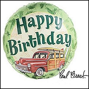 Woodie Balloon 18"