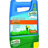 Ready-2-Go Spreader and GreenView Lawn Fertilizer with Weed Killer-WEED FEED W/P