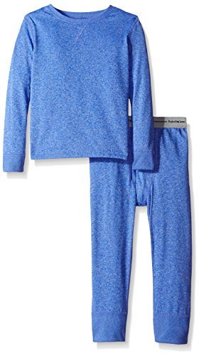 Fruit of the Loom Big Boys' Performance Thermal Underwear Set, Royal Cationic, 7/8