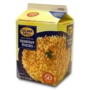 GOLDEN GRILL Russet Premium Hashbrown Potatoes 33 oz. Makes 50 Servings