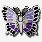 Belt Buckle Purple Butterfly