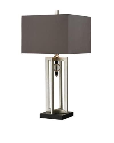Artisitic Lighting Table Lamp, Silver Leaf, Black