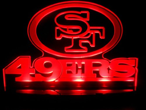 "Nfl San Francisco 49Ers Led Desk Lamp Night Light Beer Bar Bedroom Game Room Signs (3""X12""X6.5 Inches) front-376333"