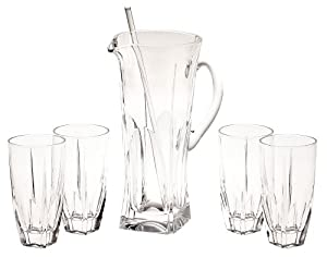Godinger 6-Piece Contempo Beverage Set, Service for 4