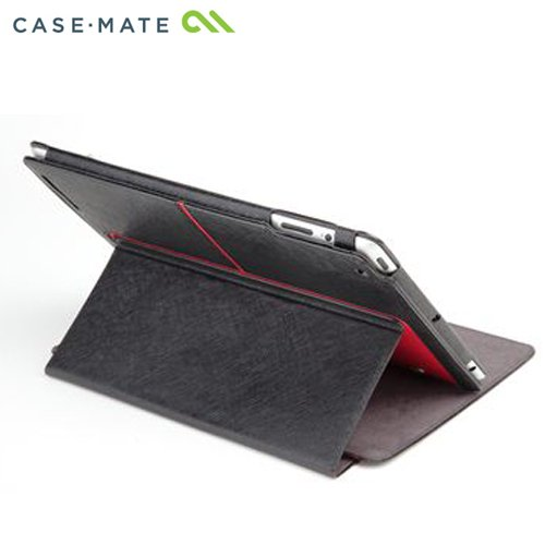 Case-Mate+iPad+2+Stand+Case%2C+The+Venture%2C+Black+faux+leather+with+Red+accents+スタンド機能つき+ブックタイプ+レザー調ケース「Venture」+ブラック%2Fレッド+CM013574