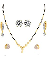 YouBella Traditional Designer Gold Plated 1 Mangalsutra, 2 Bali & 1 Earring - Combo Of 4 Jewellery For Women