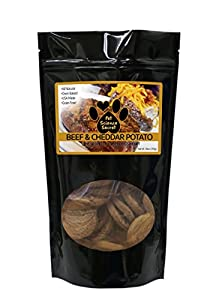 100% Organic Pure & Natural Beef, Cheddar & Potato Chewy Dog Treats | Grain & Chemical Free, No Artificial Additives, Preservatives, By-Products | Healthy Antioxidants, Flaxseed Oil | Made in USA 10oz