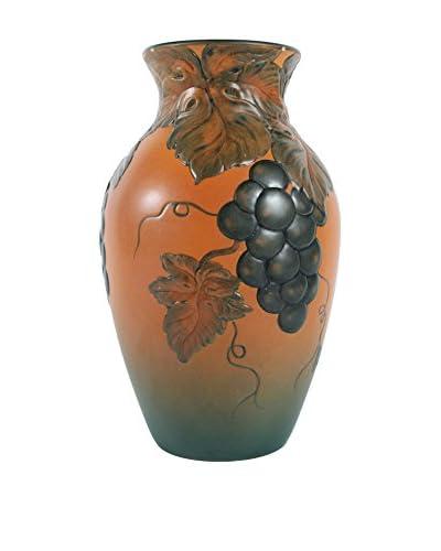 Vintage P. Ipsen Enke Terra- Cotta Grapes Vase, Brown