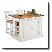 Kitchen Island Set with Counter Stools
