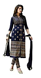 SHREENATHJI ENTERPRISE Navy Blue 60gram dress matirials (H161_navy blue_Free size)