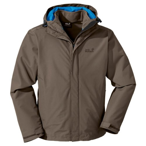 Jack Wolfskin Herren 3 In1 Jacke Crush'N Ice, Siltstone, XL