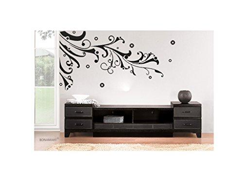 bonamart abnehmbare schlafzimmer kinderzimmer wohnzimmer wandtattoo blumen und ranken jm7034. Black Bedroom Furniture Sets. Home Design Ideas