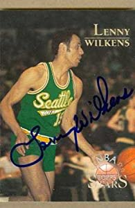 Lenny Wilkens autographed Basketball Card (Seattle Sonics) 1996 Topps Stars #149
