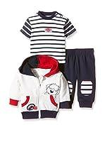 Pitter Patter Baby Gifts Conjunto (Azul / Crudo / Rojo)