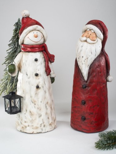 Formano Schneemann mit Laterne Nikolaus 794642 Magnesia Weihnachten für Innen und Außenbereich, Ausführung Neu:rechts im Bild