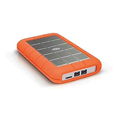 LaCie 1TB Rugged mobile Triple USB 3.0 Silver/Orange