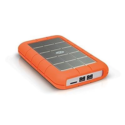 LaCie 1TB Rugged mobile Triple USB 3.0 Silver/Orange
