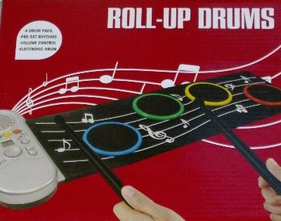 Roll Up Drums Electronic Musical Instrument 4 Drum Pads
