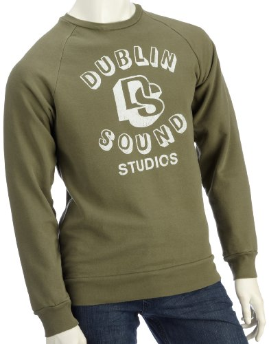 Lost Property by Worn Free Mens Dublin Sounds Sweatshirt Olive Small