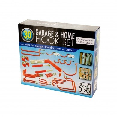 Garage & Home Storage Organize 30 Piece Hook Set Vinyl Coated (Protective Wall Covering compare prices)
