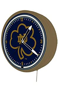 Notre Dame Fighting Irish Neon Wall Clock