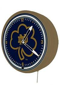Notre Dame Fighting Irish Neon Wall Clock