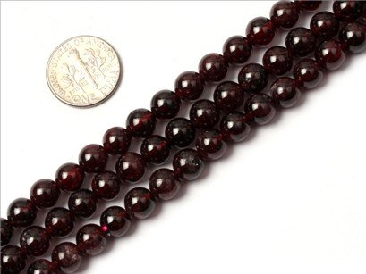 8mm round gemstone natural garnet beads strand 15